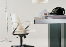 офисное кресло, вращающееся кресло, италия, Fasem, кожа
