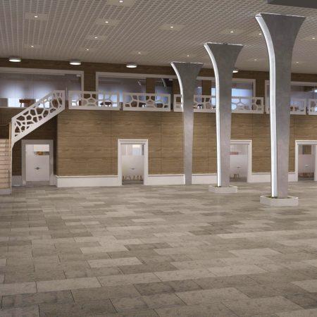Интерьера торгового павильона в рамках проекта по реновации территории Губского кирпичного завода.