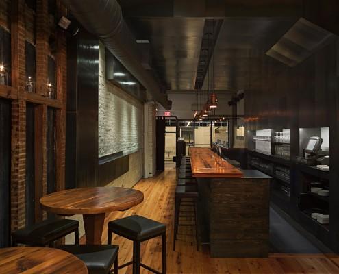 дизайн-проект, коммерческий интерьер, бар, современные стиль, индустриальный стиль