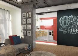 кухня-зал, Фрино, дизайн-студия, дизайн