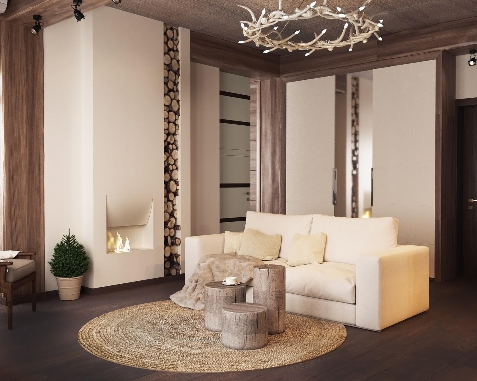 Дизайн интерьера гостевой зоны п. Красная поляна от Студии FRINO