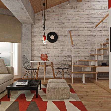 Дизайн-интерьера столовой п. Красная поляна от студии FRINO