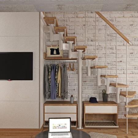 Дизайн-интерьера гардеробной п. Красная поляна от студии FRINO