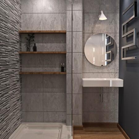 Дизайн-интерьера ванной п. Красная поляна от студии FRINO