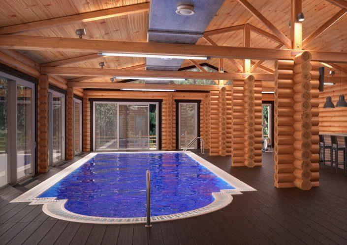 Дизайн проект интерьера банного комплекса в г. Краснодар от студии FRINO