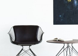 кофейный столик, дания, Overgaard & Dyrman, сталь, дерево