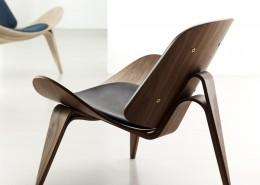 стул, интерьерный стул, дания, Carl Hansen & Søn, ламинат, кожа