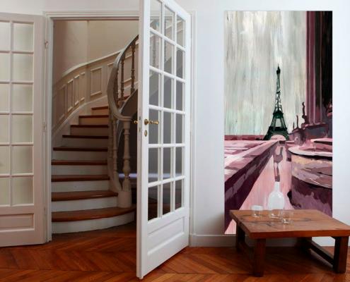 декоративная панель, картина, франция, Mademoiselle Tiss, лен, хлопок