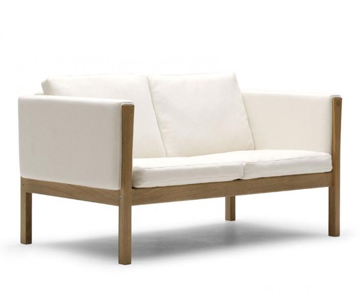 диван, прямой диван, дания, Carl Hansen & Søn, кожа, текстиль