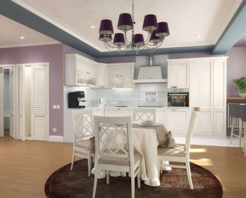 Дизайн интерьера жилой квартиры в Краснодаре