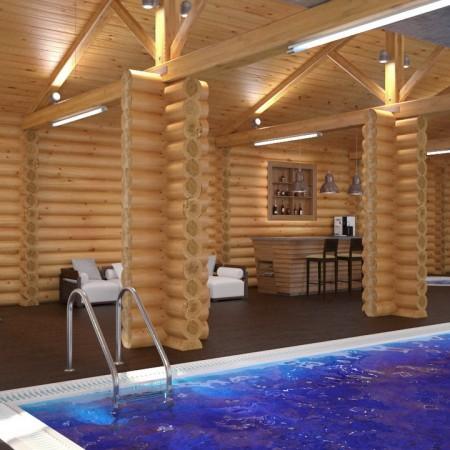 Дизайн интерьера бани в г. Краснодар от студии FRINO