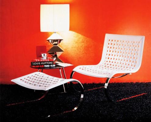 кресло, италия, Fasem, кожа, сталь