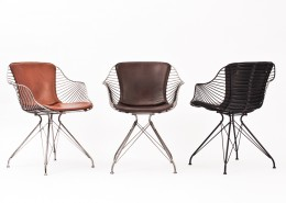 кресло, дания, Overgaard & Dyrman, стальной карскас, кожа