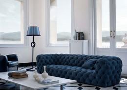 диван, прямой диван, кожаный диван, экстравагантный диван,италия, Baxter, кожа