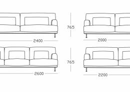 диван, прямой диван, австралия, Nonn, текстиль