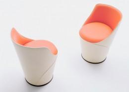 кресло, вращающееся кресло, италия, Fasem, кожа, сталь