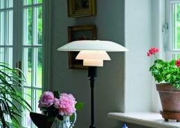 светильник, дания, Louis Poulsen, опаловое стекло, хромированная латунь