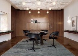 стол, обеденный стол, германия, walter knoll, стекло, кожа