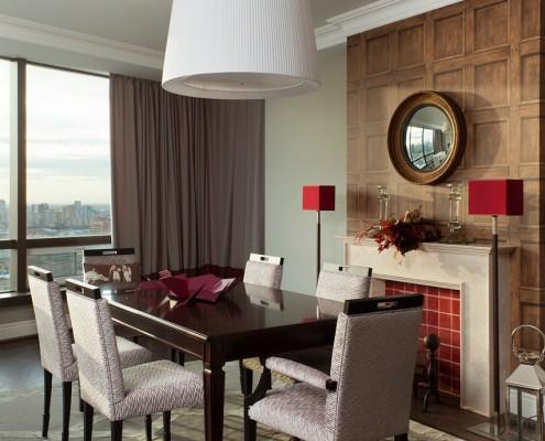 дизайн-проект, жилой интерьер, квартира, этнический стиль, английский стиль