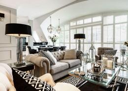 дизайн-проект, жилой интерьер, дом, современный стиль, арт-деко