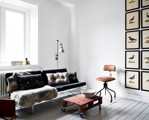 дизайн-проект, жилой интерьер, квартира, этнический стиль, скандинавский стиль