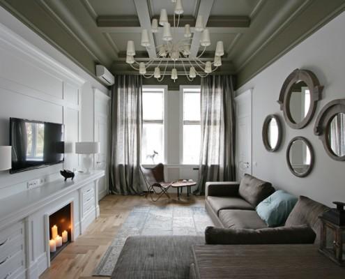 дизайн-проект, жилой интерьер, квартира, классический стиль, неоклассика
