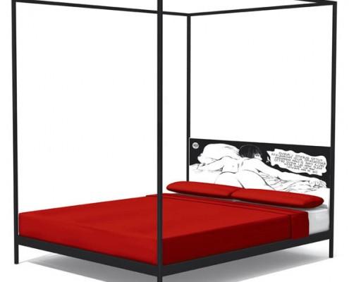 кровать, италия, яркая кровать, ennezero