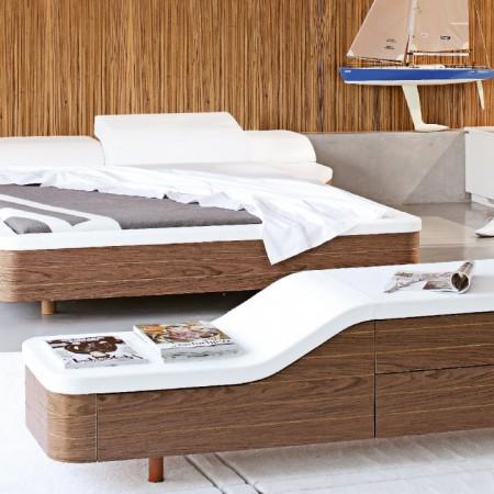 кровать, двуспальная кровать, франция, roche bobois