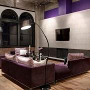 гостиная, минимализм, лофт, диваны, торшер, industrial