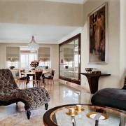 роскошь, гостиная, кресло, зеркало, столовая