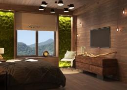 Дизайн интерьера спальни п. Красная поляна от Студии FRINO