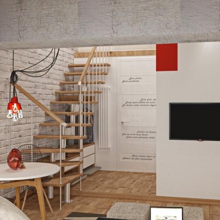 Дизайн-интерьера обеденной зоны п. Красная поляна от студии FRINO