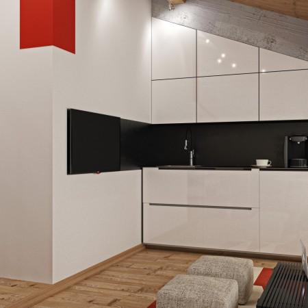 Дизайн-интерьера кухни п. Красная поляна от студии FRINO