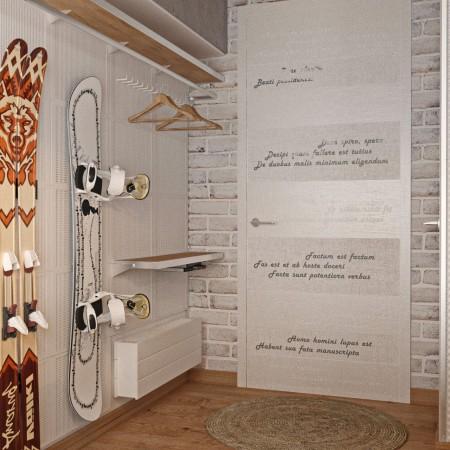 Дизайн-интерьера прихожей п. Красная поляна от студии FRINO