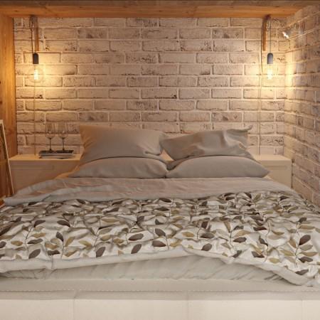 Дизайн-интерьера спальни п. Красная поляна от студии FRINO