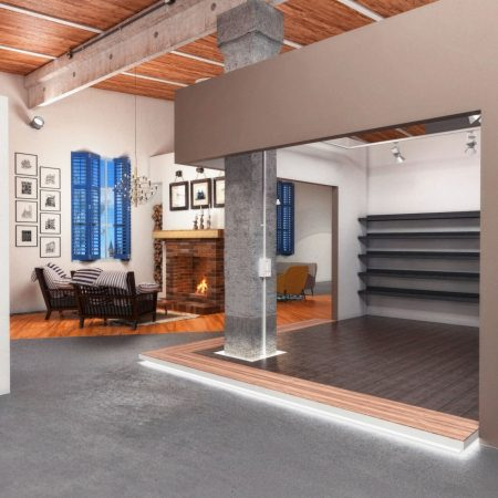 Дизайн интерьера торгового павильона строительных материалов в г. Краснодар от студии FRINO