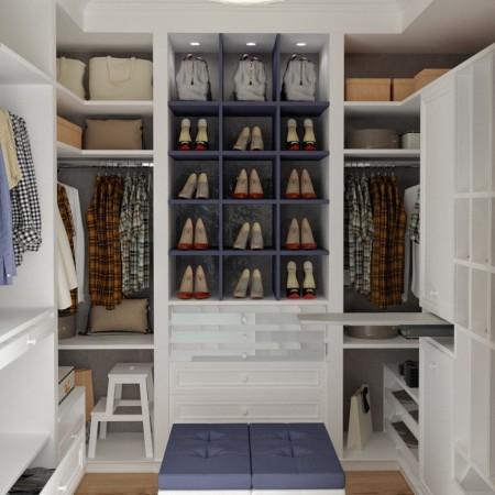 Дизайн интерьера гардеробной.