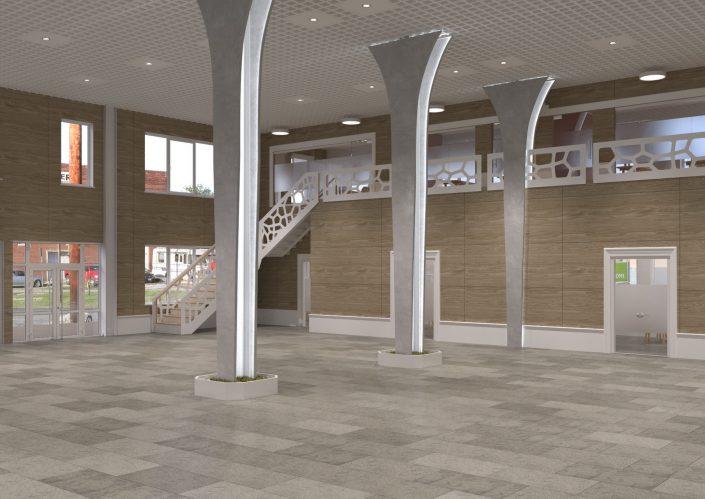Дизайн интерьера торгового павильона в Краснодаре.