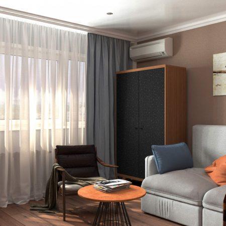 Интерьер гостиной, в современном стиле.