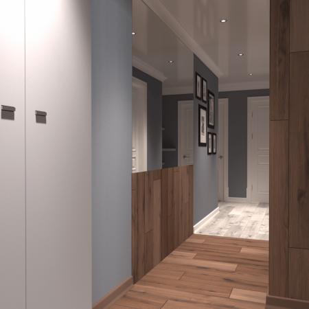 Интерьер прихожей и коридора, в современном стиле.