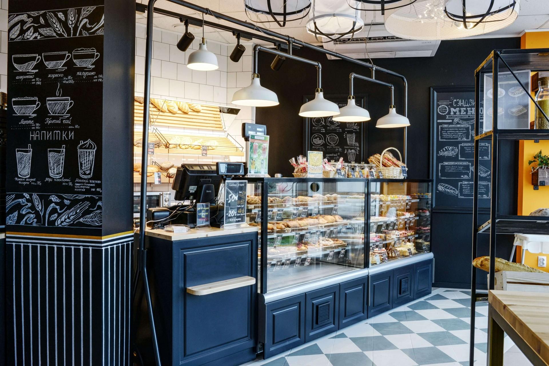 Дизайн-проект кафе-пекарня Хлебные истории от FRINO Studio