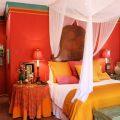 Красный цвет в мексиканском стиле интерьера