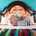 Бирюховая спальня в мексиканском стиле