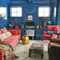 Синяя гостиная в мексиканском стиле