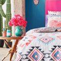 Синяя спальня в мексиканском стиле