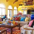 Желтаягостиная в мексиканском стиле