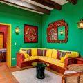 Зеленый цвет в мексиканском стиле интерьера